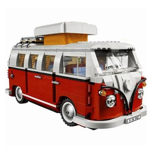 Technic 10220 1354PCS Tecnologia Series Volkswagen T1 Camper Compatibile Lepinblock Car Modellazione Building Blocks Giocattoli