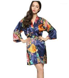 Dişiler Seksi Moda V Yaka İç Bayan Vintage Florol Uyku Elbise Yaz Tasarımcı Bandaj pijamalar Robes yazdır