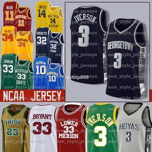 NEW MEN Iverson NCAA 21 Joel 25 Ben Embiid Simmons Junge 11 Trae 14 Tyler 0 Jayson Herro Tatum College Basketball Jerseys