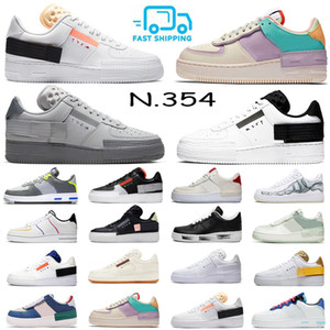 2020 Type N354 Running Skate Shoes Shadow Mens Mens Femme Tous Squelette Noir Squelette N.354 Baskets de Soie Silk Sports Silk EUR 36-45