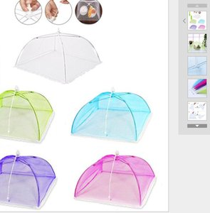 New Multi Color Mesh Screen Food Cover Tent Umbrella Folding Outdoor Picnic Foods Covers Meshes High Quality