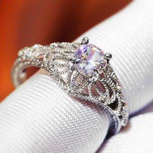 Huitan Luxury Wedding Proposta anelli di barretta Hollow Winding Cirrus modello argento placcato donne Midi Anelli Proposta per la ragazza