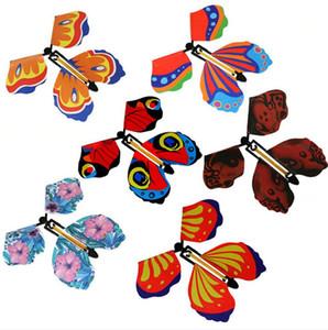 Brinquedo mágico da borboleta voando mudar com truques mãos vazias da liberdade da borboleta Magia Prop engraçado Surprise Prank Joke Místico truque Brinquedos LJJP357
