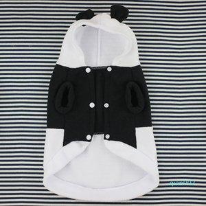 Botão Panda Custome macia Outwear Durable Plush Quente Fotografia Outono-Inverno Prop Funny Pet Supplies roupas para cachorros com chapéu