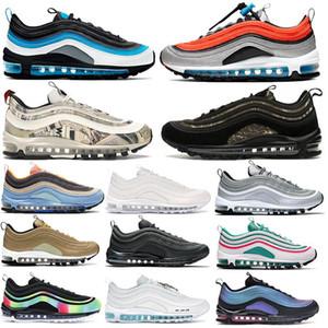 Top qualité 97OG Throwback Future Amarillo Neon Séoul Université Rouge Designer Noir Sneakers réfléchissant or NEON sport Chaussures de sport 36-45