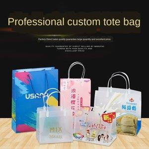 Gift Bag Pp Frosted Plastic borsa Yogurt Pubblicità Shopping in PVC trasparente