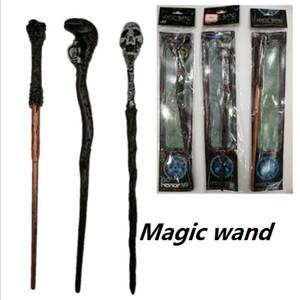 3 개 스타일 해리 포터 마술 지팡이 창조적 인 해리 포터 해골 시리즈 비 발광 마법 지팡이 큰 아이는 할로윈 장난감 선물
