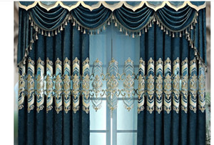 2020 Curtain fabric manufacturers direct sales bedroom living room curtain finished products customized European embroidery curtain