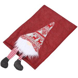 Noel Masa Örtüsü Runner Stereo Tablecloth Mat Noel Dekorasyon Masa Bayrağı Yaratıcı Üç Boyutlu Tablo pıhtısı Malzemeleri
