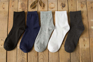Wholesale-2015 New Arrival Cotton Solid Color Classic Business Men's Sock  Casual Dress Mens Socks For