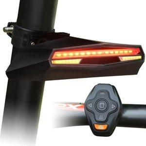 Новый интеллектуальный Bicycle Taillights Горный велосипед дистанционного управления X5 Taillights Laser Рулевое управление безопасности