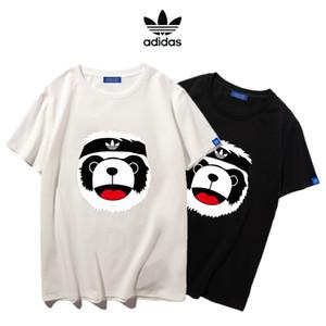 Adidas Neue Mens-Frauen-Sommer-T-Shirts 3D Digital gedruckten Kurzärmlig Rapper Male O-Ansatz T-Shirts Designer-Kleidung # 62213
