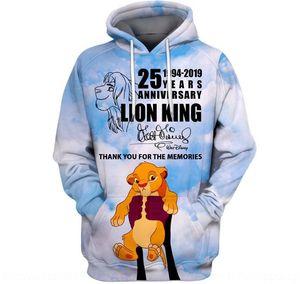 ZPaD6 Мужской 3D печати Simba Lion King потерять мужской свитер 3D печать Simba Lion King Hoodie Digital свитера Digital рыхлой толстовки