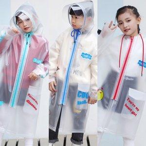78Ii2 Kindertasche Mantelmantel tpu Regenmantel Kindergarten Mädchen mit Schulranzen Primary School Studenten wasserdicht transparent großer childr