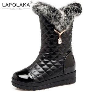 Lapolaka nuovo modo 2020 Hot Sale Aggiungi Pelliccia caldo inverno stivali donna Scarpe: sull'aumento Tacchi Snow Boots Women Shoes