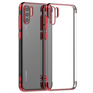 Cgjxsfor Huawei P30 Fall Galvanotechnik freie weiche TPU Abdeckungs-Fall für Huawei P30 Pro P30 Lite