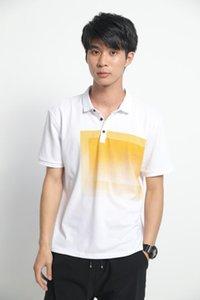 Tshirt Camicia Casual Mens Tees Moda manica corta adolescenti Polo Estate Abbigliamento Uomo Designers Gradient Mens
