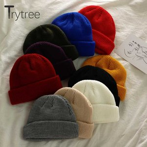 Trytree Autumn Winter Women Casual Hat Knitting All-Purpose Style Fashion Solid 10 colors Keep warm Lovely Elastic pullover Hat