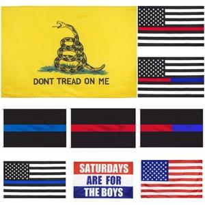 DHL Amérique 50pcs bannière étoilée Drapeaux USA Election présidentielle Drapeau Ne marchez pas sur moi Gadsden Flag Outdoor Stardard Taille 150x90cm