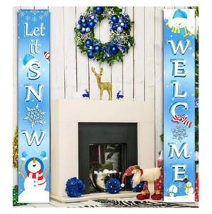 Рождество Couplet Флаг Баннер Стена Подвески двери Подвесная Куплеты Christmas Party Supplies Открытый Garden Party Украшение DHD1076