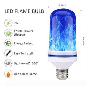 HaoXin E27 85-265V LED Flame Effect Bulb Fire Light Gravity sensor Corn Bulbs Emulation Decor lamp Dynamic Light 4 Modes Creative Lampa