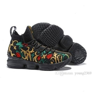 Rendimiento de alta calidad Kith Lebron 15 Ghost Mens Basketball Cenizas 15s llegada de los zapatos James presenta Diseñador Tamaño zapatillas Lbj 12