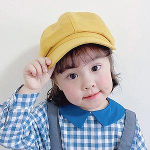 n0zia Tek renkli Painter sekizgen yeni çocuk bere çocuk ince ressam şapka sekizgen şapka saf MZ8919 beret
