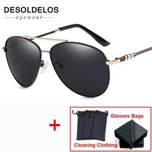 2020 DesolDelos UV400 Pilot Yurt Sun Óculos Men óculos polarizados Marca Logo Design Driving óculos Goggles