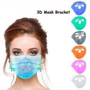 Maschere 3D staffa Rossetto Protezione stand interno di sostegno in silicone Maschera Staffe Naso Aumento Breathing Space Bocca della copertura del supporto DDA500