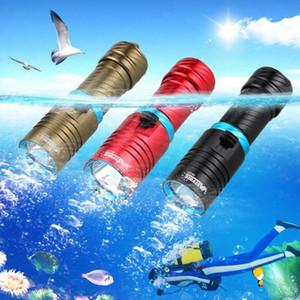 Waterproof T6 LED Scuba LED Light Cycling 28650 18650 Torch Waterproof 100M No Battery 3 Colors NuN7#