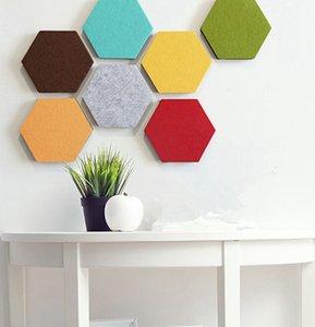 14 * 12см шестигранной стены стикеры самоклеющихся Войлок листовых панелей сплошного цвет Message Board стена наклейка Декоративные KKA8025