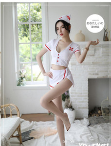 Clothing Festival Special Female Apparel Halloween Sexy Nurse Costume Fashion White Split Occupational Womens