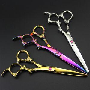 Professional 6 Zoll japan 440c DRAGON Schere schneiden Haarschneideschere Friseur makas sissors Salon Effilierschere Friseur