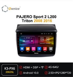 Ownice 8 Core Android 10.0 Car Radio Audio ForMitsubishi PAJERO Sport 2 L200 Triton 2008 2020 dvd GPS Player Navi DSP Optical