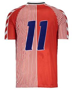 1986 Dinamarca casero retro 1.992 euros danesa hogar final clásica camiseta Lauder Povlsen 92 Dinamarca hombres retros camiseta de fútbol M. Laudrup 10RETRO 19
