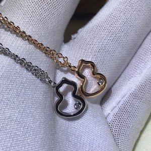 2020 donne nuove collane 925 collana in argento zucca rete di temperamento delle donne Ciondolo Collane rosso puro ad alta argento sensazione collana