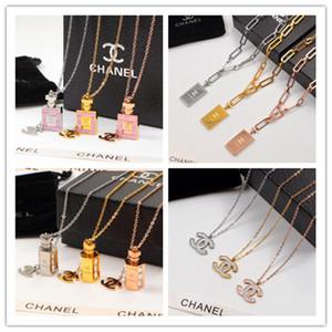 Vendita di alta qualità cuore in argento gg regalo Collana in oro rosa Argento YLS unisex della collana Fashion Jewelry cc
