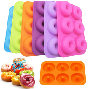 1pcs Silicone Donut Mold Baking Pan DIY Doughnuts Mould Maker Non-stick Silicone Cake Mold For Donuts Bagels Pastry Baking Tools