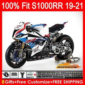 100% Fit Injection blue white new mold For BMW S1000 RR S1000RR 19 20 21 Bodywork 88HC.3 S1000-RR S 1000 RR S 1000RR 2019 2020 2021 Fairings