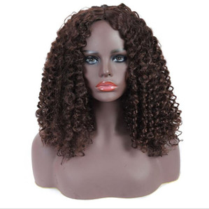 Free Shipping Women Europe and the United States Brown dyeing African small curly hair medium long hair headwear 2020 cross border