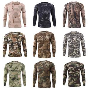 Camice casuali del manicotto del Mens traspirante superdotati Tops Designer spting autunno Mens maglietta lunga # 362