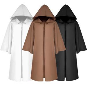 2020 Brasão meia luva New Halloween Costume Unissex Mulheres Homens Vintage sólido com capuz Bandage Cloak Cosplay Outwear Men Criança