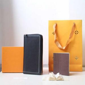 mens concepteur Portefeuille Portefeuille en cuir embrayage sac à main Zippy longue Portefeuilles carte passeport Porte-wallets Porte-monnaie poche