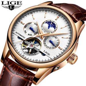 Relojes LIGE Hommes mécaniques Automatiques Sport Montre Hommes Marque De Luxe décontracté Montres montre pour homme Horlo armée