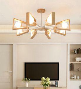 Modern Chandelier Tree Lighting pendant Lights E27 Windmill LED Nordic Wooden pendant lamps Hanging Light for Living Room Bedroom 321