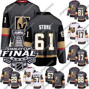 2020 Stanley Cup 최종 라스베가스 황금 기사 윌리엄 Karlsson Robin Lehner Marc-Andre Fleury Mark Stone Reilly Smith Ryan Reave Jerseys