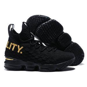 Ghost Kith cenizas Lebron 15s 15 zapatillas de alto rendimiento de alta calidad de los niños de baloncesto del Mens llegada James presenta las zapatillas de deporte Lbj