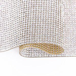 20 * 24 centimetri autoadesivo strass Sticker Sheet cristallo del nastro con la gomma bastoni diamantati per fai da te Auto Decorazioni casse del telefono Coppe KKA1768