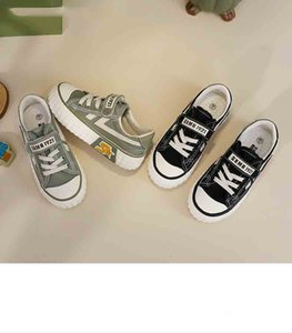 Child Casual Board Shoes Kids New Solid Color Flat Shoes Boys and Girls Canvas Shoe Children Trendy Fashion All-match Shoe 2020 Hot Selling