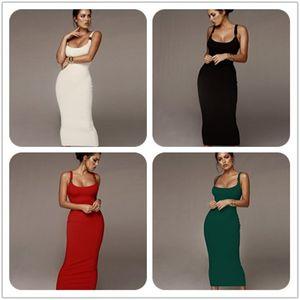 Frauen Luxus, figurbetontes Kleid Weibliche Designerkleidung für Normallack-Spaghetti-Bügel Vestidoes Kleider
